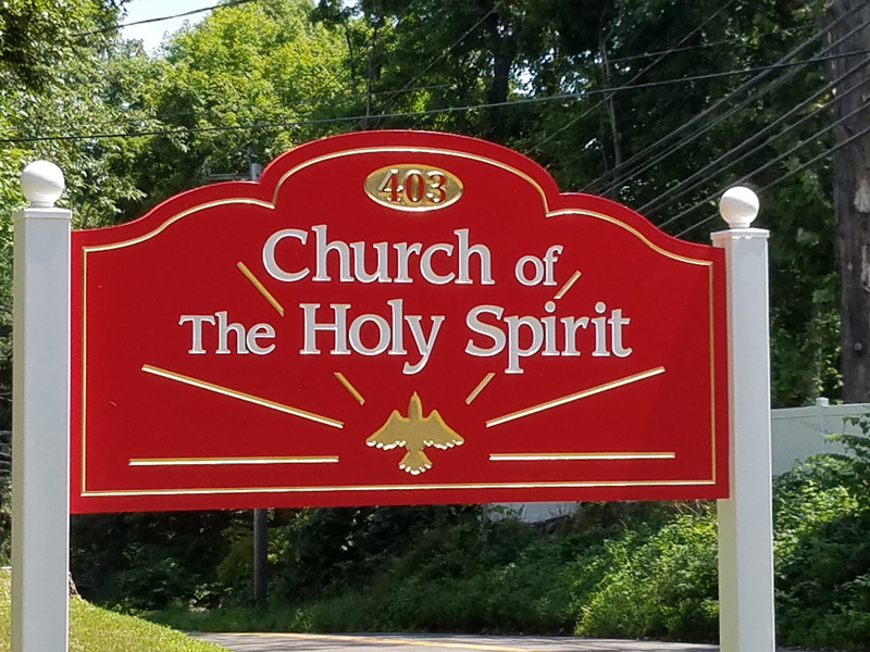Holy Spirit Road Sign