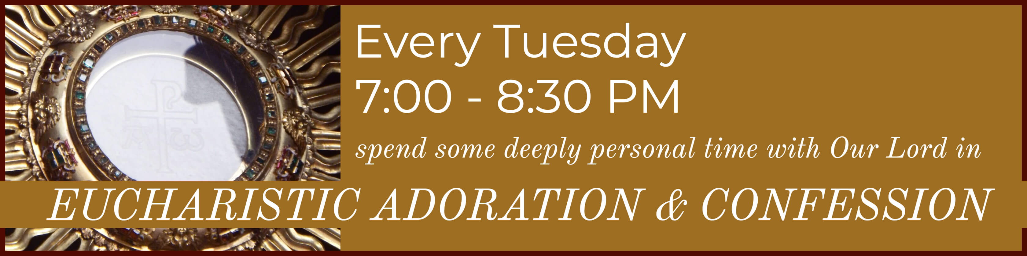 Tuesday Adoration & Confession